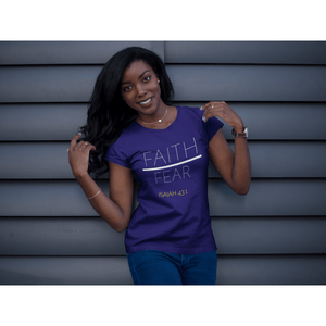 Faith Over Fear Christian Tee