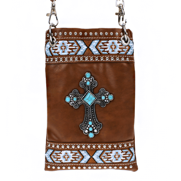 Aztec Leather Crossbody Bag - TRUTH Christian Boutique