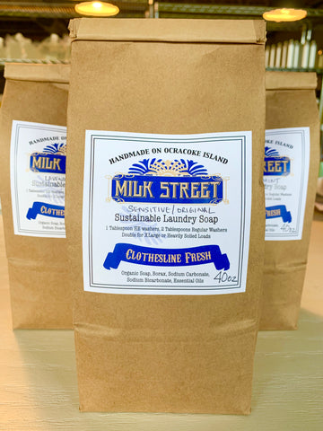 Laundry Detergent - 40 OZ Bag of Milk Street Laundry Powder