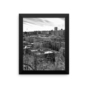 Silver Heights Framed photo paper poster