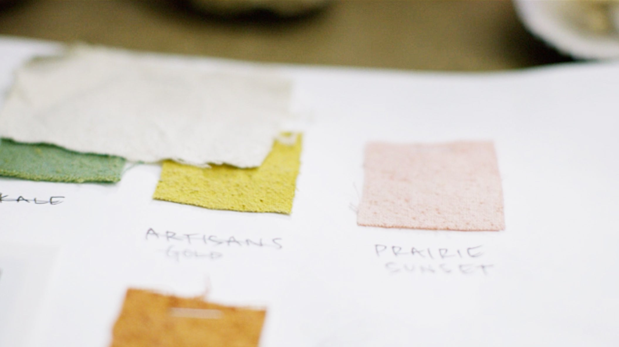 Hand dyed fabric swatches
