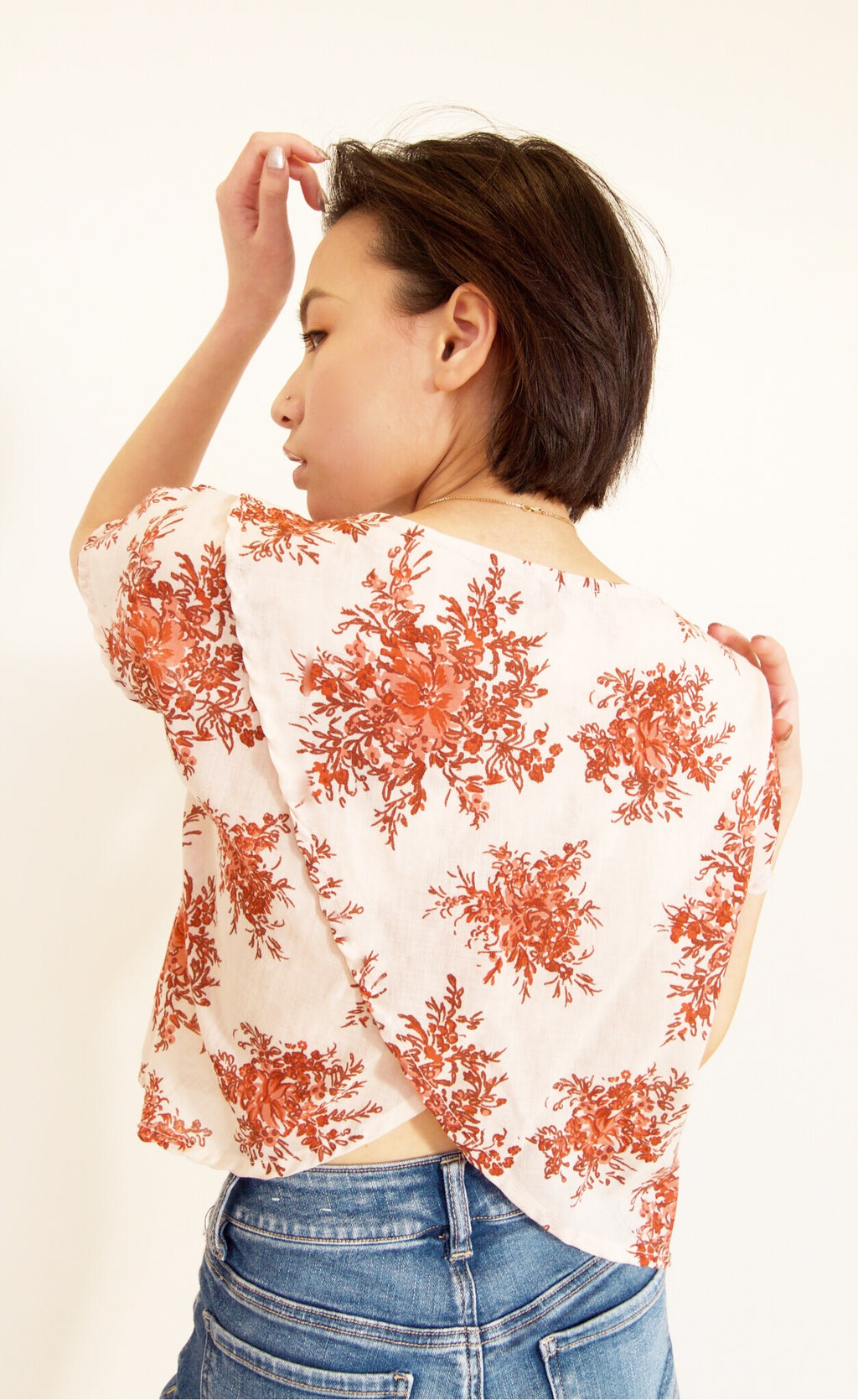 Floral Tiger Lily Top