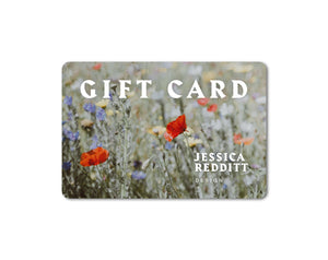 Image of Jessica Redditt e-gift card. Give the gift of sustainable fashion today
