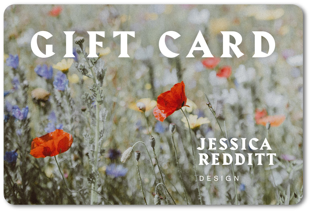 Jessica Redditt e-gift card. Give the gift of sustainable fashion today