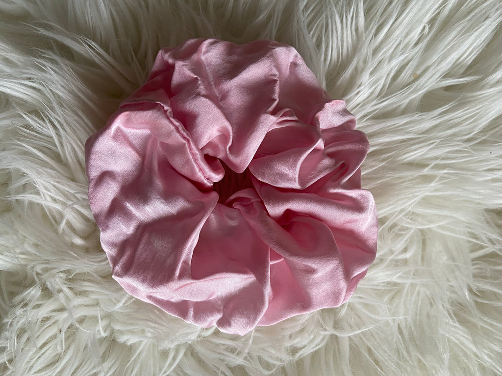Naturally-dyed Pink Scrunchies