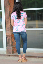 Floral Jersey Knot Top