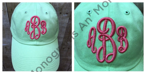 3D Monogram Hat Ladies