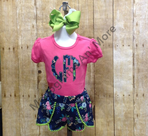 Appliqued Monogram With Coachella Shorts Children