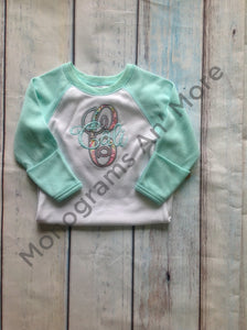 Appliqued Raglan Gown Baby