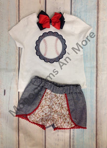 Baseball Cochella Short Outfit Children