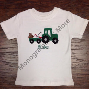 Boys Gone Fishin Tractor Shirt Children