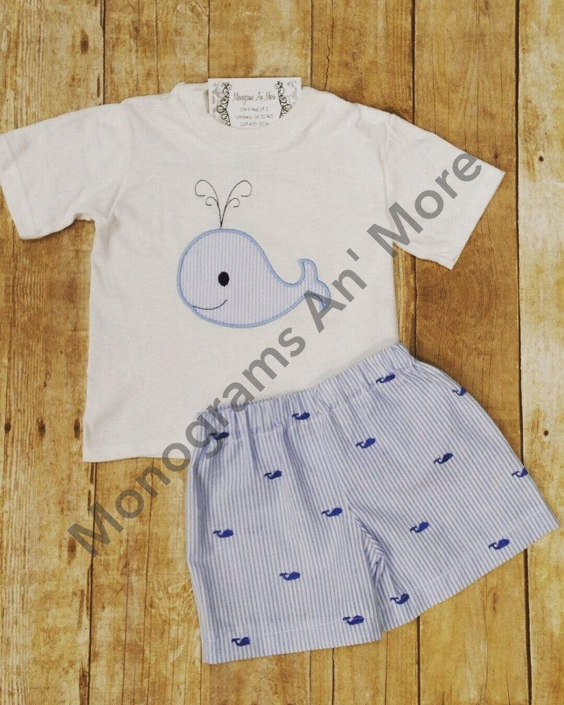 Boys Whale Short Outfit Children