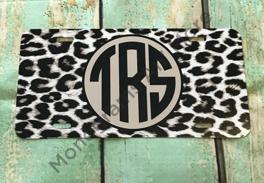 Cheeta Print Printed Car Tag Ladies