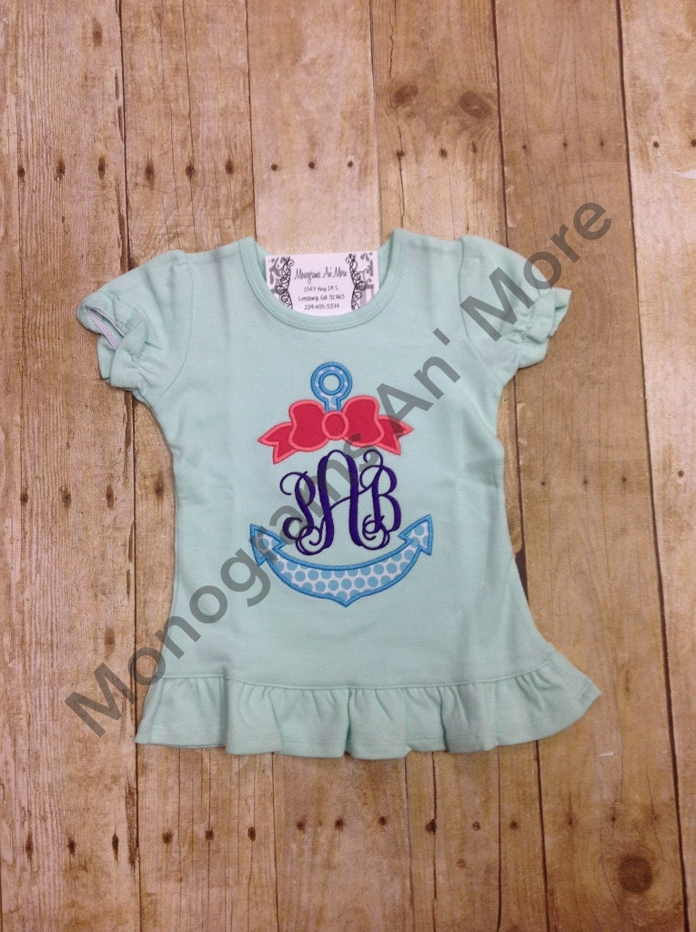 Girls Anchor Appliqued Shirt Children