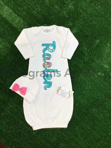 Girls Appliqued Gown Baby