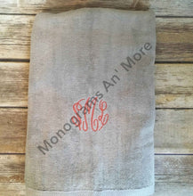 Monogrammed Towel For The Home