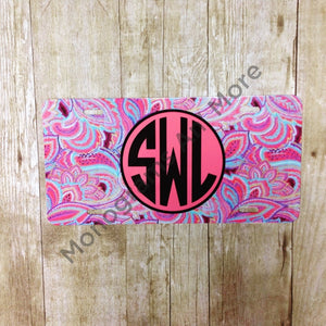 Pink Paisley Printed Car Tag Ladies