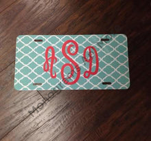 Teal Quadrefoil Printed Car Tag Ladies