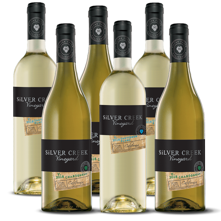 Silver Creek Mixed White Wines 6 Pack