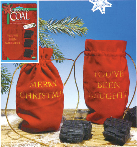 holiday gift bag of coal naughty nice