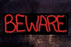 Beware Neon LED Sign Creepy Depot