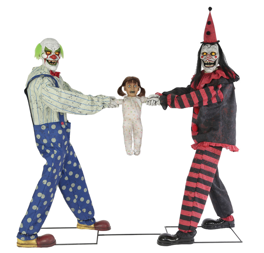 Clown Tug of War with Child