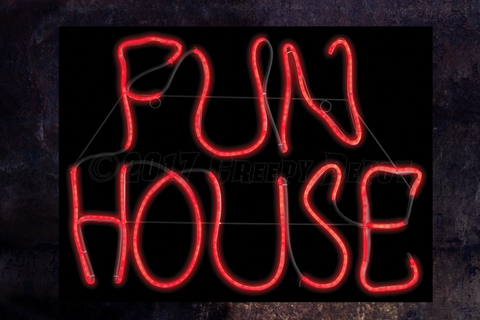 "FUN HOUSE neon type ""LED"" sign"