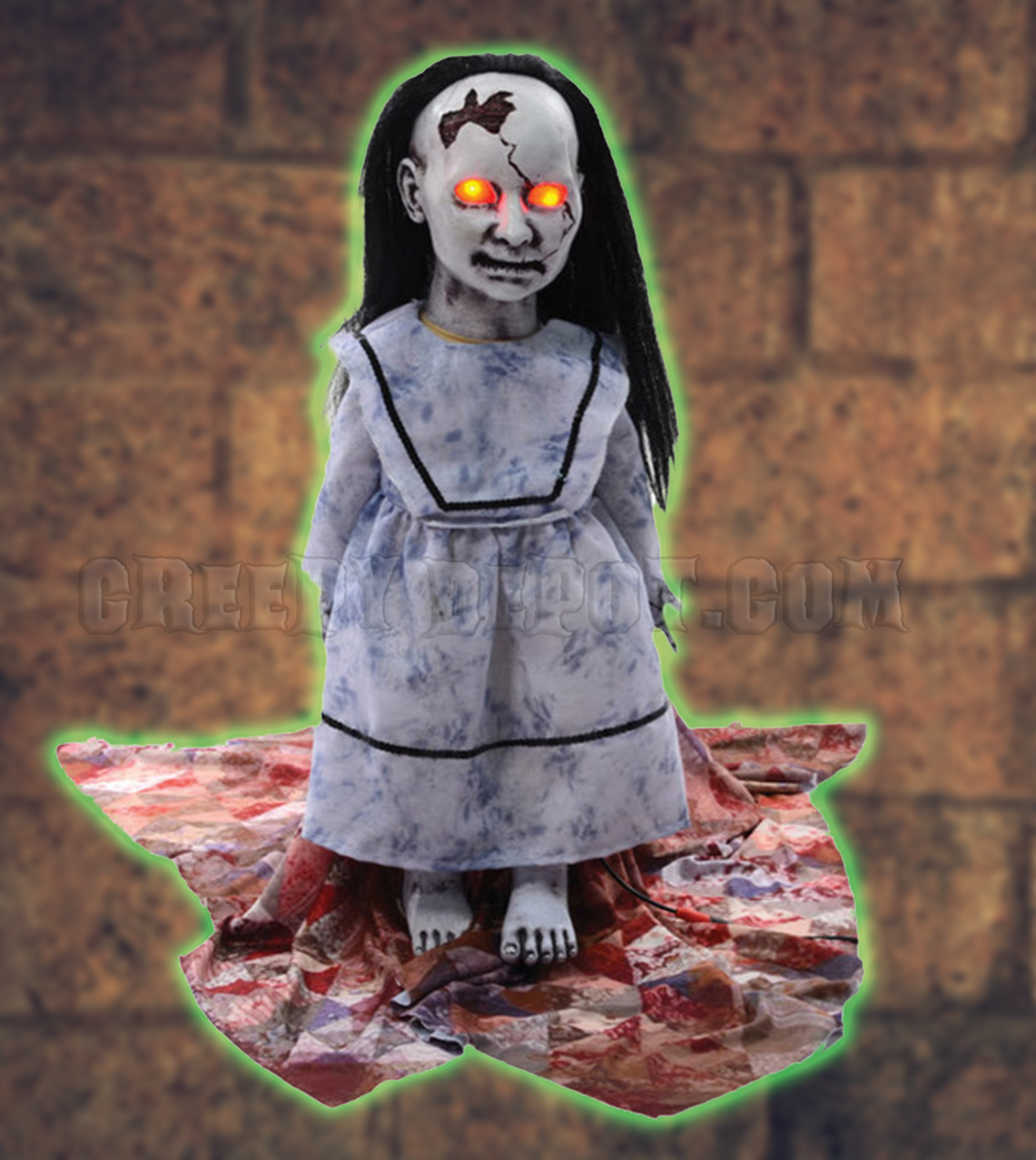 Animated Haunted Graveyard Baby Doll Prop