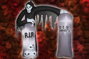 Inflatable 8 Foot Grim Reaper with Archway