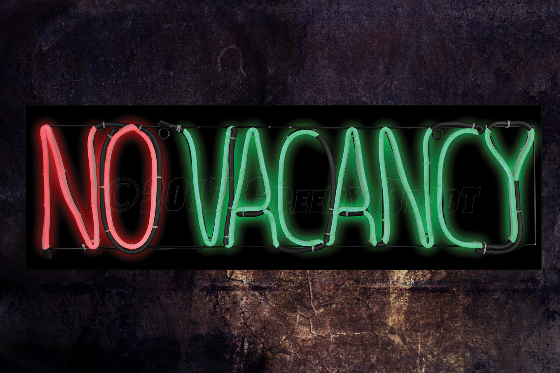 No Vacancy Neon Type - LED sign - NEW