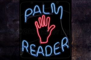 Palm Reader neon / LED sign