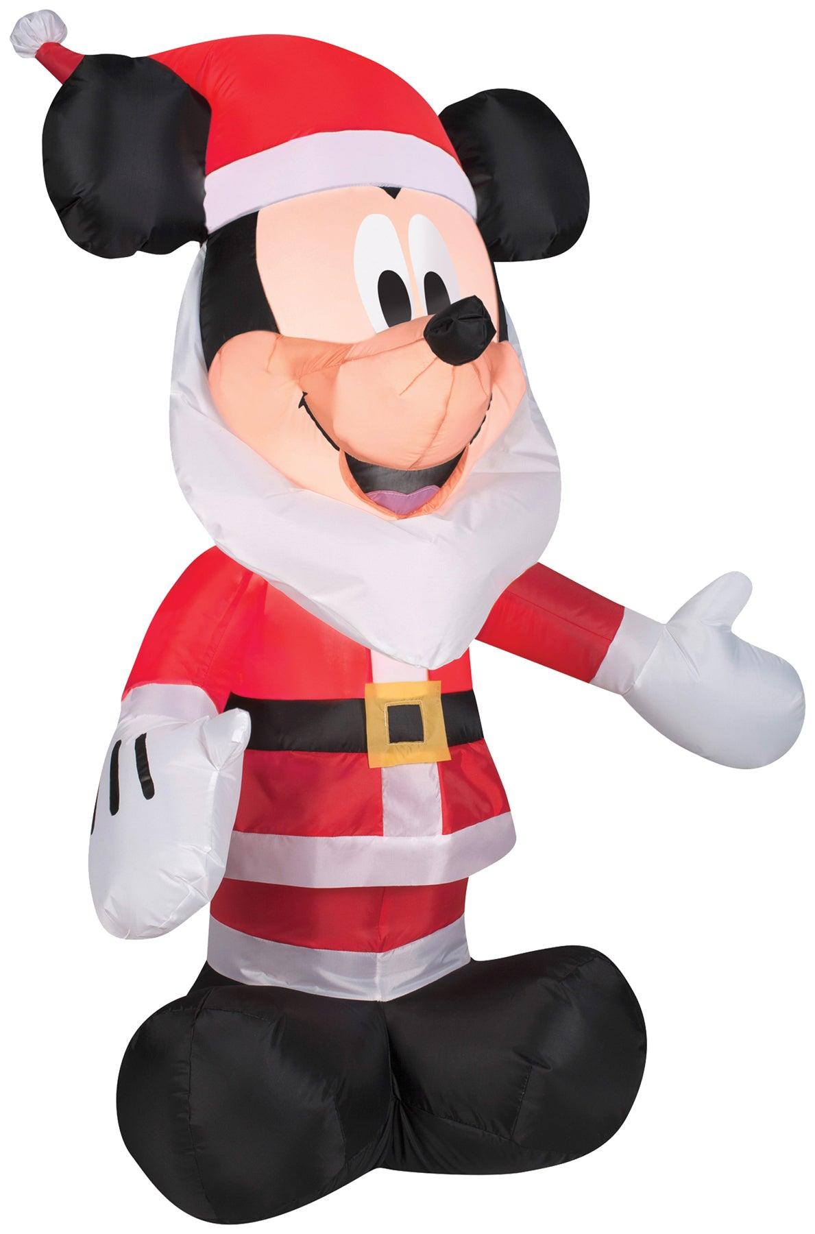 mickey mouse as holiday christmas santa inflatable