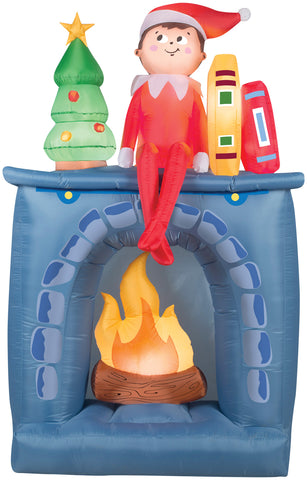 Elf on the Shelf Inflatable Yard Decoration
