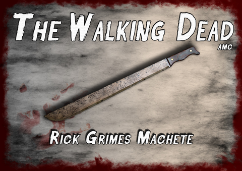 AMC The Walking Dead Rick Grimes Machete. Most realistic zombie killing prop to be found