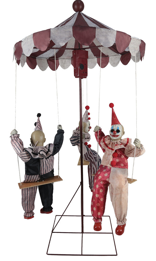 Clown Go Round Halloween Animated Prop
