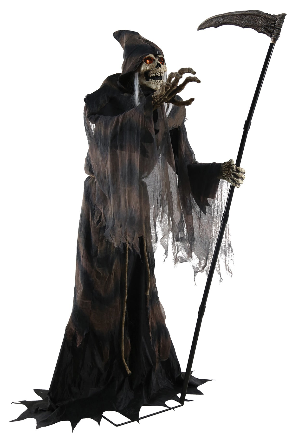 lunging reaper animated halloween prop – creepy depot