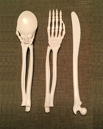 Boneware Skeleton Utensils - Perfect for your Trick or Treat Party!