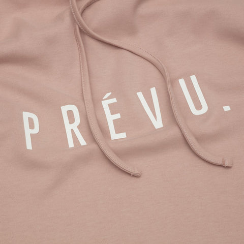 PRÉVU CORE COMBED COTTON HOODIE / PRINT - EMB BLUSH