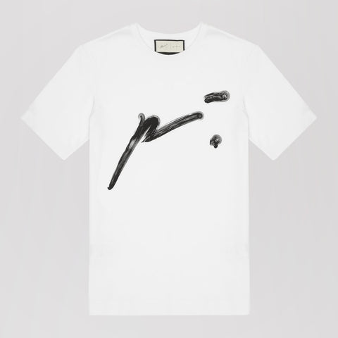 PRÉVU SIGNATURE P´.TSHIRT WITH SIG STITCH WHITE