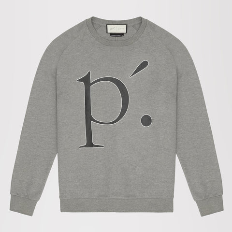 PRÉVU TECH JERSEY CRACKLE PRINT RAGLAN SLEEVE SWEATSHIRT GREY