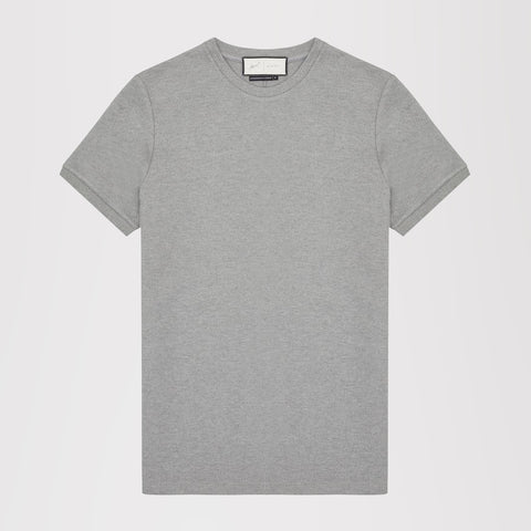 PRÉVU TECH JERSEY SHORT SLEEVE CREW GREY