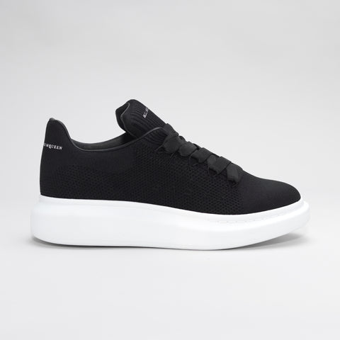 ALEXANDER MCQUEEN RAISED SOLE LOW MESH TRAINER BLACK/WHITE
