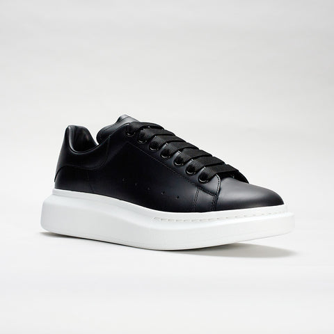 ALEXANDER MCQUEEN RAISED SOLE LOW TOP SNEAKER BLACK/BLACK