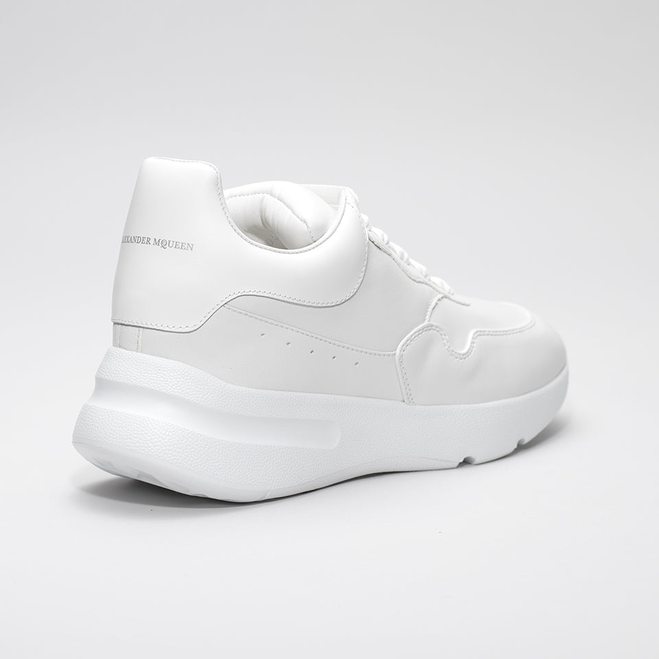 ALEXANDER MCQUEEN EXAGGERATED SOLE LOW TOP LEATHER SNEAKER WHITE