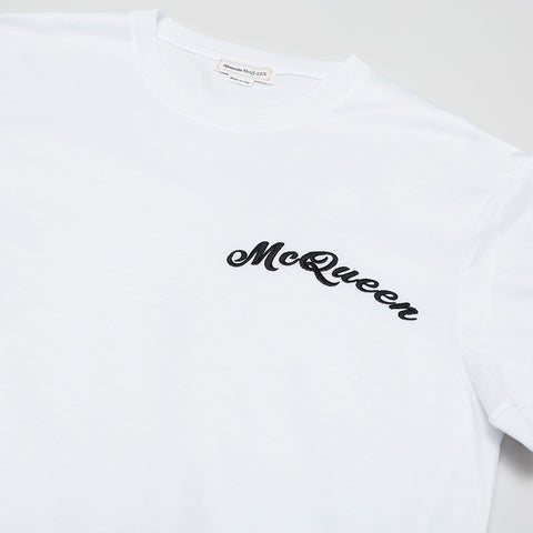 ALEXANDER MCQUEEN EMBROIDERY LOGO T-SHIRT WHITE