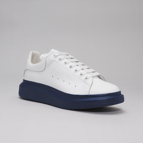 ALEXANDER MCQUEEN RAISED SOLE LOW TOP SNEAKER WHITE/BLUE