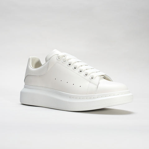 ALEXANDER MCQUEEN RAISED SOLE LOW TOP SNEAKER WHITE/WHITE