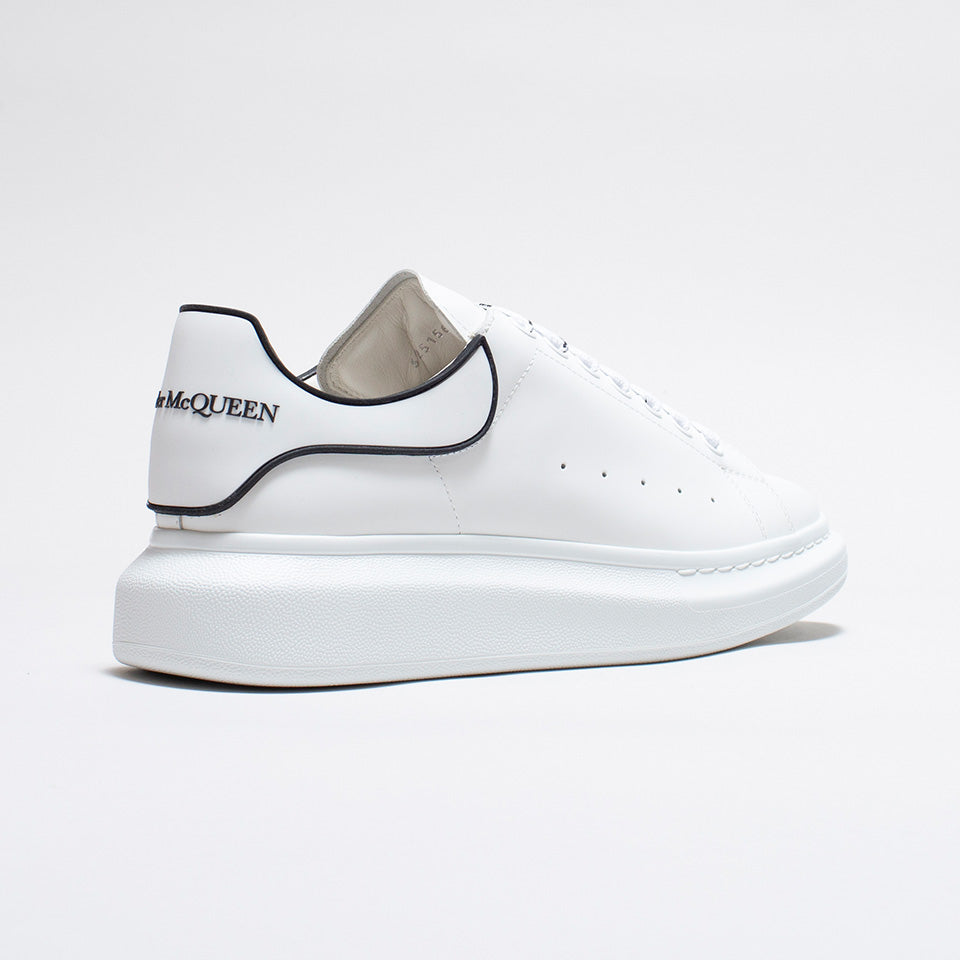 ALEXANDER MCQUEEN RAISED SOLE LOW TOP SNEAKER RUBBER TAB WHITE