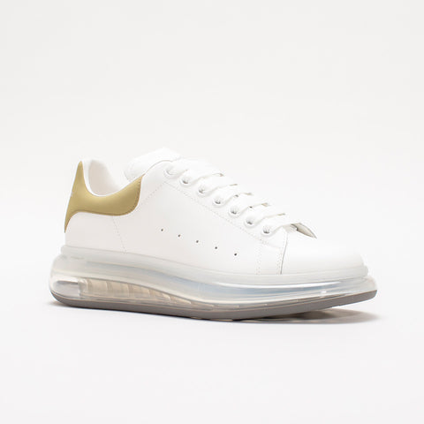 ALEXANDER MCQUEEN RAISED SOLE LOW TOP SNEAKER GOLD TAB