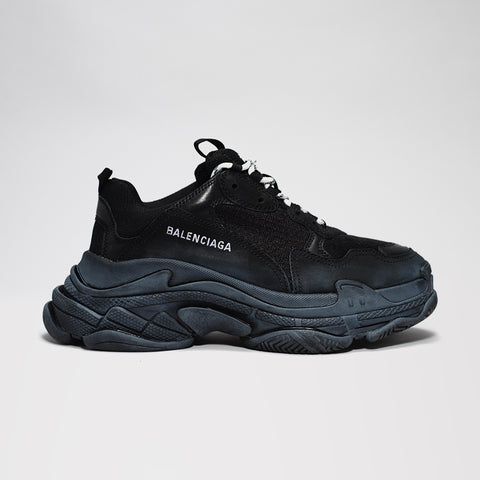 BALENCIAGA TRIPLE S BLACK/BLACK DISTRESSED